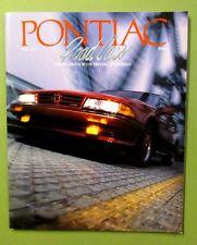 1988 PONTIAC Sales Brochure Bonneville Motorsports Engines Wagons Radios 72 pgs