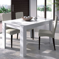LANZA Extending Dining Table 90cm x 140cm - 190cm White 4 - 6 Seater