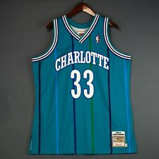 100% Authentic Alonzo Mourning Mitchell & Ness 92 93 Hornets Jersey Size 44 L