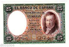 Espagne SPAIN ESPANA Bilet 25 PESETAS 1931 P81 VICENTE LOPEZ  NEUF UNC