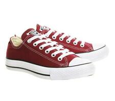 Converse All Star Low Maroon Canvas Size UK 6.5 EUR 39.5 CM 25 REF:6619^