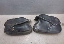 2004 04 Honda VTX1800 leather Saddlebags Saddle Side Bags DAMAGED