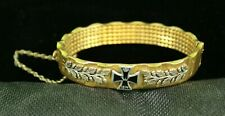 Vintage Ww I Weltkrieg 1914 Trench Art German Iron Cross Bracelet, Free Shipping