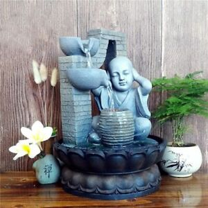 Running Water Indoor Fountain For Home Decors Ornaments Buddha Waterfall Sounds