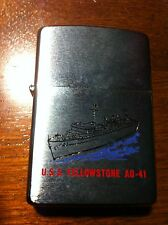 ZIPPO NAVY Military Lighter USS YELLOW STONE AD-41 Unused Lighter ESTATE FIND