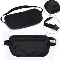 DISCREET MONEY TRAVEL WAIST BELT ZIPPED PASSPORT WALLET POUCH BUM BAG SECURITY 0