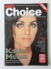 HMV Choice magazine Nov 2005 - KATIE MELUA, KATHERINE JENKINS, BURT BACHARACH
