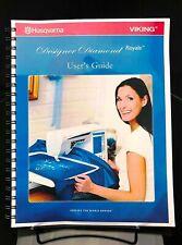 New listing Husqvarna Viking Designer Diamond Royale Sewing Ma 00004000 chine User Guide Color Reprint