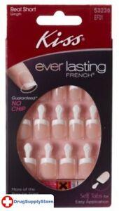 BL Kiss Everlasting French Nail Kit Real Short 28 Nails - THREE PACK