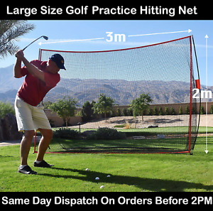 Huge Practice Golf Net for Outdoor Training, Hitting Net with Carry Bag