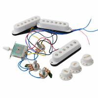 New KIT SSS 3 singles & électronique câblés - blancs pour guitare stratocaster