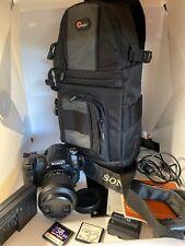Sony Alpha A100 DSLR 10.2 MP Camera w 18-70 Lens 2 Batteries, Bag, Flash Cards