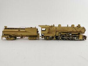 Japan 2-8-2 Lokomotive unlackiert mit Tender Finescale Messingmodell