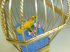 ANTIQUE GERMAN KARL GRIESBAUM SINGING BIRD CAGE MUSICAL AUTOMATON (WATCH VIDEO)
