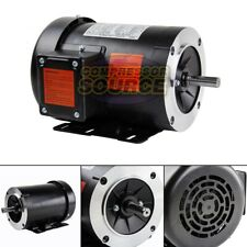 1 HP Electric Motor 3 Phase 56C Frame 3600 RPM TEFC 208 230 / 460 Volt New