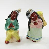 Vintage Salt Pepper Shakers Japan Native American Indian Souvenir Cleveland TN