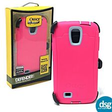 OTTERBOX DEFENDER COVER CASE FOR SAMSUNG GALAXY S4 HARD SHOCK PINK CLIP