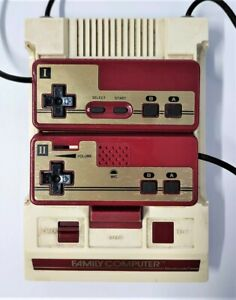 Rare SQUARE BUTTON Nintendo Famicom Video Game Console NTSC-J JAPANESE TESTED