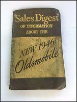1946 Oldsmobile Automobile Vintage Dealer Fact Data Book Brochure Catalog