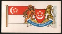 Flag And Standard Banner For Singapore c50 Y/O Trade Ad Card