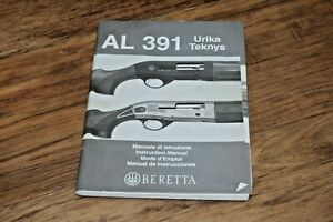 BERETTA AL 391 Urika Teknys Rifle Gun Owners Instruction Manual Guide Shooting