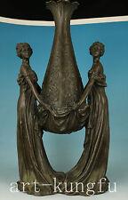 5KG Big Only one Bronze solid Casting royal  Belle Hug statue Vase decoration