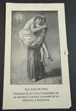 OLD BLESSED SAINT JOHN OF GOD HOLY CARD ANDACHTSBILD PROTECTOR OF SICK    CC2125