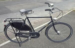 """Pashley Roadster Sovereign Black Gents Traditional Bicycle 22.5"""" Frame"""