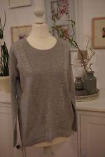 NEU Esprit Damen Basic Strick Pullover Shirt Gr.XS-S 34-36 grau
