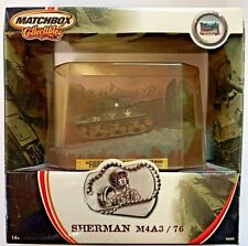 "SHERMAN M4A3 / 76 Tank ""FOREST ROAD"" Germany 1946 Matchbox Collectibles Die Cast"