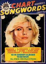 Blondie on Chart Songwords Number 5 Magazine Cover 1979  Donna Summer The Police