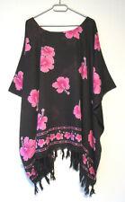 Damen Tunika Bluse Shirt Geckos auf Rot Grösse 2XL 3XL 4XL 52 54 56 58 60 G229