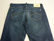 096 WOMENS NWOT ARMANI EXCHANGE REG BOOTCUT DK BLUE STRETCH JEANS 8 $240 RRP.