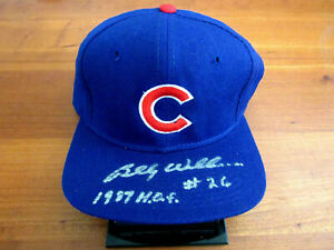 BILLY WILLIAMS # 26 HOF 1987 CHICAGO CUBS SIGNED AUTO 100% WOOL SS CAP HAT JSA