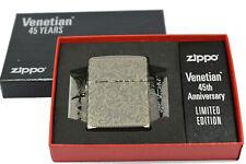 Zippo Venetian 45 Years Limited Edition 2019 Armor Case Black Ice 60004949 Neu