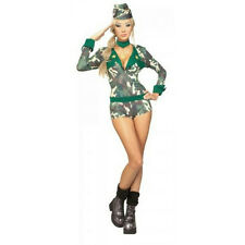 Secret Wishes Army Girl Sexy Military Women's Adult Costume Romper Medium 10-12