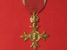 FULL SIZE OBE CIVIL MEDAL MUSEUM STANDARD COPY MEDAL WITH RIBBON.