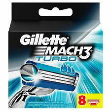 GILLETTE MACH 3 TURBO PACK OF 8 (FREE DELIVERY)