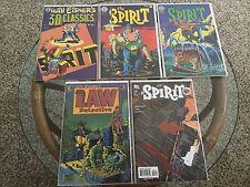 Lot of 5 The Spirit Eclipse 1 2 3 DC Kitchen Sink Detective Stories Cooke Eisner
