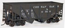 Accurail HO Scale 55 Ton Wood Side Twin Hopper Kit - Chesapeake & Ohio C&O