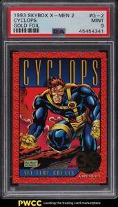 1993 Skybox X-Men 2 Gold Foil Cyclops #G-2 PSA 9 MINT