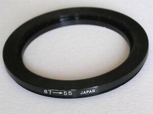 STEP DOWN ADAPTER 67MM-55MM STEPPING RING 67 TO 55MM 67-55 STEP DOWN RING