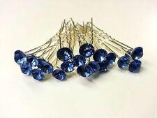 Accessoires de coiffure bleus pour la mariée