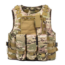 Tactical Molle Airsoft Vest Paintball Combat Soft Vest Tan Tactical Vest