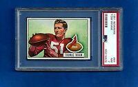 1951 BOWMAN FOOTBALL #64 TOM WHAM PSA 7 NM CHICAGO CARDINALS