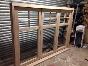 Solid Oak Hardwood Bi Folding Doors Bifold Brio Weather fold Running Gear