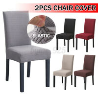 2 PCS Dining Chair Covers Spandex Cover Stretch Washable Slipcover Banquet Party