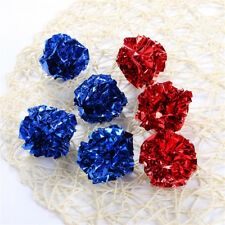 New listing New Mylar Crinkle Ball Pet Cat Toy Dog Sound Ring Paper Interactive Toy 12 Pcs