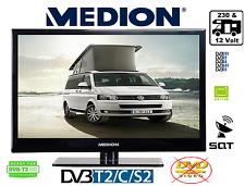 12 Volt 24V 230V Betrieb LED TV 15,6 Zoll 40cm DVB-C/S2/T2 HD Camping Wohnmobil