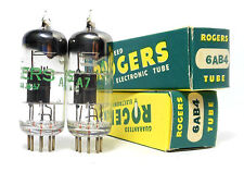 Match Codes PAIR NOS 6AB4 EC92 Tube Westinghouse Neumann D Getter 1957 Fisher